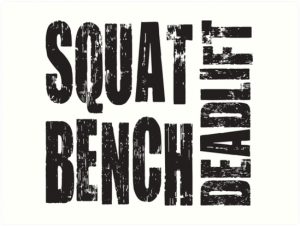 Basic exercises: Squat, bench and deadlift