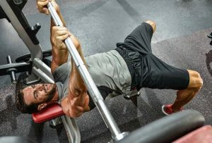 Bench press with a narrow grip