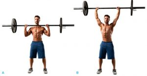 Standing barbell press