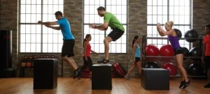Vertical jump on the step platform